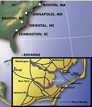 oriental location map